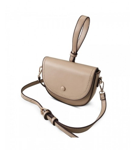 Solid Color PU Leather Special Handle Cover Closure Shoulder Bag for Women