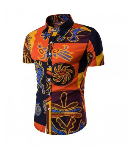 Summer New Men's Short-Sleeved Print Size Shirts