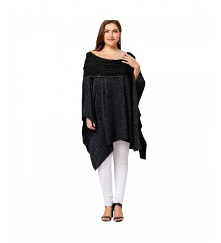 Asymmetric Plus Size Off Shoulder Tunic Top