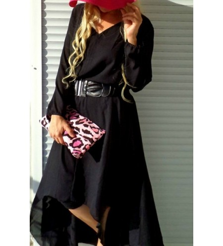 Plus Size Maxi Long Sleeve Casual Dress