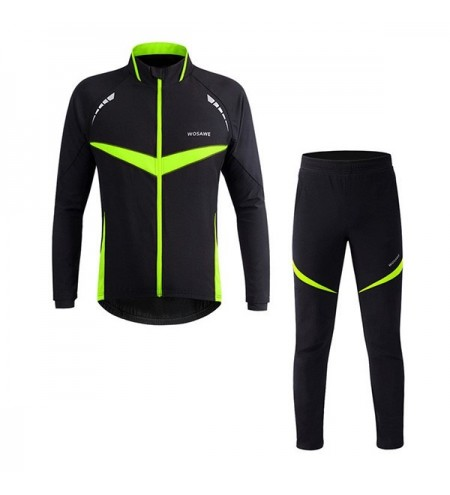 High Quality Winter Outdoor Long Sleeves Pants Cycling Suits For Unisex