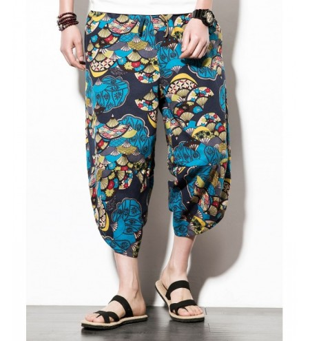 Hip-hop Sector Flower Print Nine Minutes of Jogger Pants