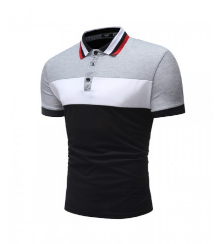 Men's Short Sleeve Casual Fashion Short Sleeves Splicing Design Shirt
