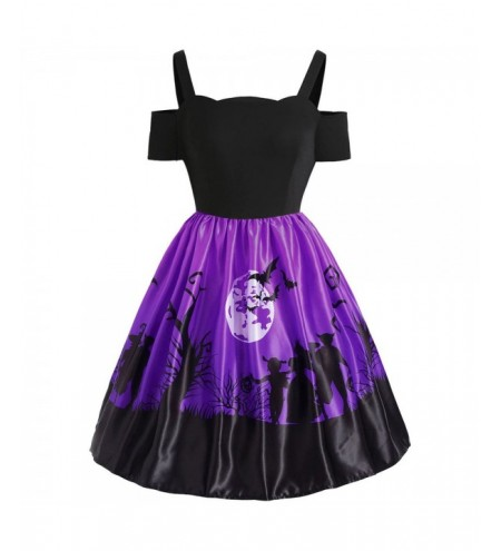 Plus Size Halloween Bat Vintage Dress