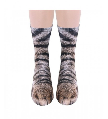 New Unisex Adult Animal Paw Crew Print Man/Women Socks