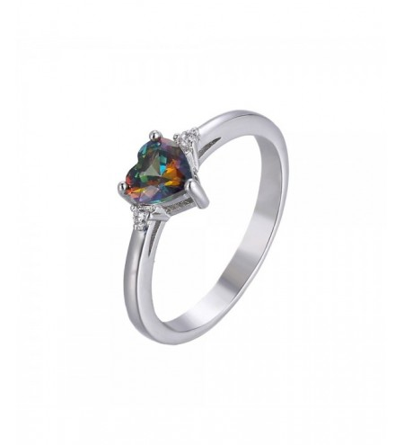Fashion Multicolor Heart Shaped Zircon Ring