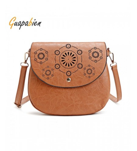 Guapabien Hollow Out Flap Women Crossbody Shoulder Bag