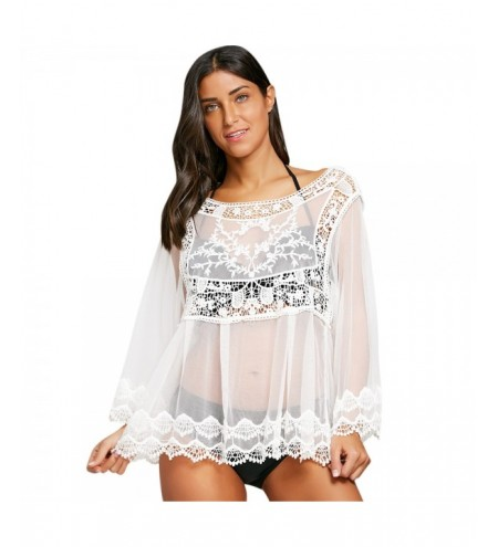 Crochet See Thru Cover Up Top