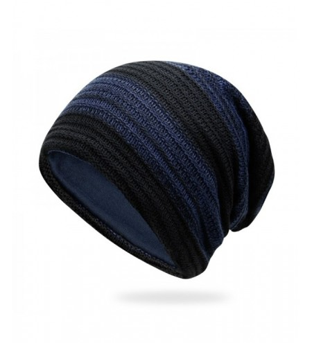 Mixed color striped wool cap + size code for 56-60cm