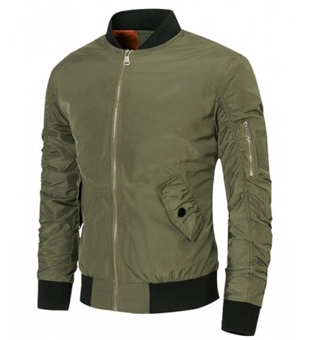 Sleeved Pocket Solid Color Jacket