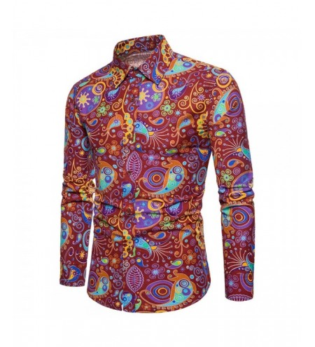 Allover Colorful Patterning Printed Shirt