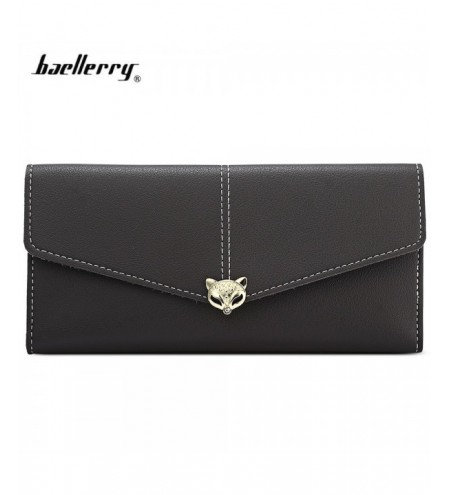 Baellerry PU Leather Women Long Wallet Hasp Card Holder
