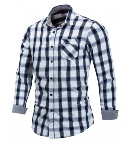 Checked Print Long Sleeve Casual Shirt