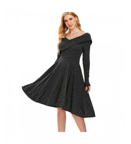 High Waist Backless Sweater Dress