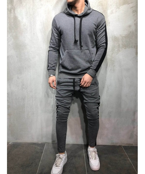 Side Stripe Casual Sports Suit
