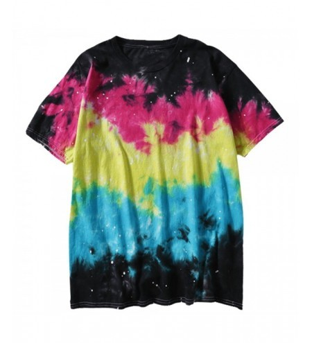 Short Sleeve Colorful Tie Dye Tee T-shirt