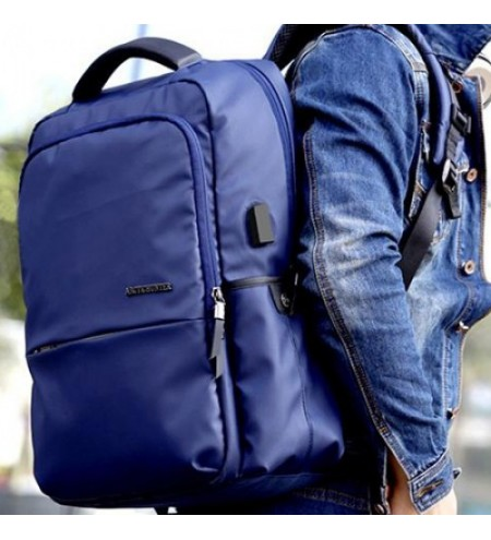 Arctic Hunter B0069 Casual Men's Oxford Cloth USB Rechargeable Backpack