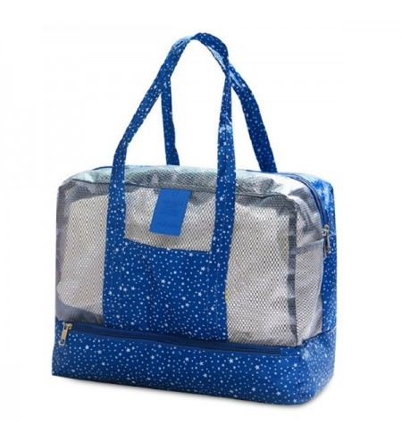 Mesh Panel Print Multifunctional Bag