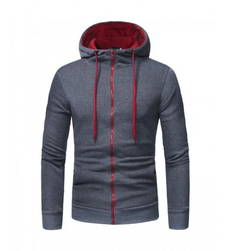 Classic Zipper Hooded Men's Casual Slim Hooded Cardigan Sweater