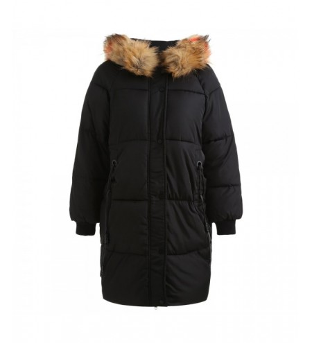 Hooded Faux Fur Puffer Coat