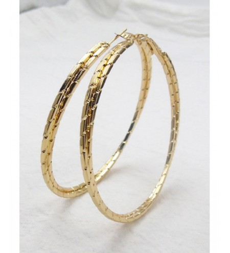 Alloy Metal Circle Hoop Earrings