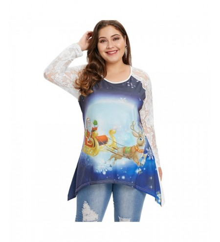 Plus Size Graphic Christmas Long Sleeve T-shirt
