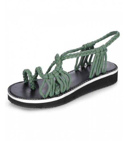 Hand-woven Knot Beach Open Toe Flat Women Sandals