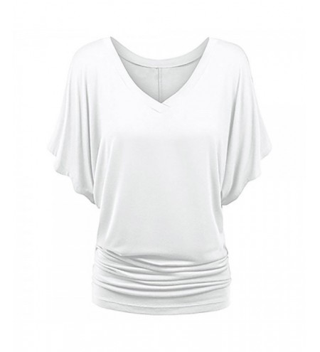 Plus Size V Neck Ruched T-shirt
