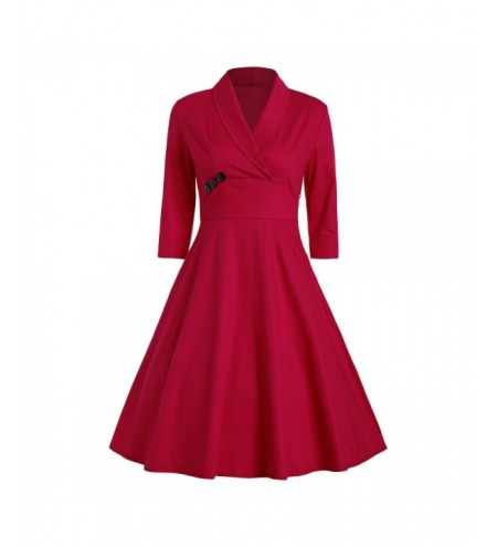 Shawl Collar A Line Party Dress