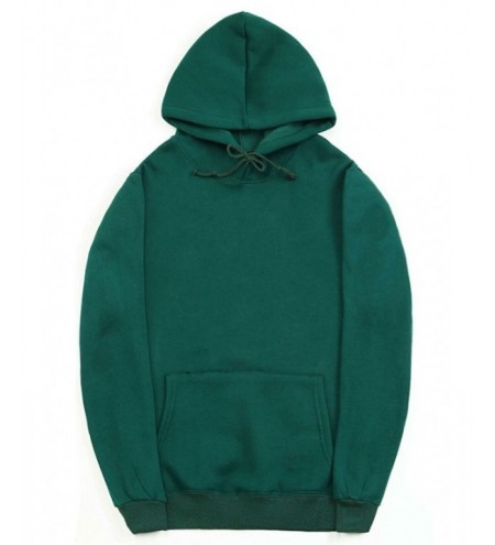 Solid Color Kangaroo Pocket Pullover Fleece Hoodie