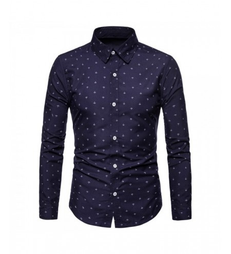 Ship Anchor Print Button Up Shirt