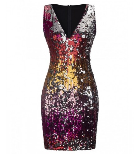 Colorful Sequin Sheath Dress