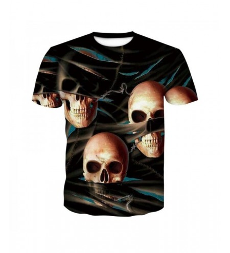 Fashion Skeleton 3D Print Men's Casual Short Sleeve Graphic T-Shirt