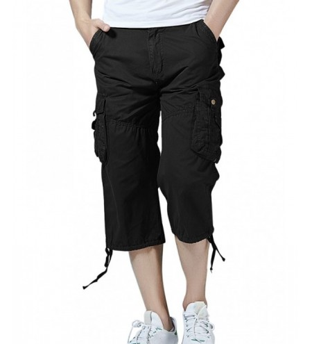 Pockets Drawstring Hem Cargo Pants