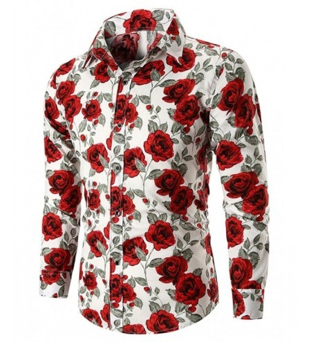 Allover Rose Print Casual Shirt