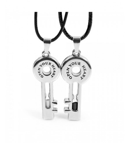 Key Hourglass Alloy Pendant Couples Necklace 2 Pcs/Lot