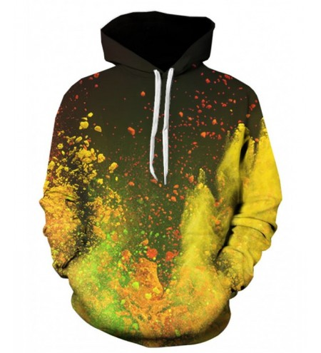 Hooded 3D Ombre Paint Print Pullover Hoodie