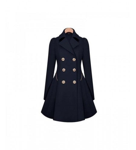 Women's Double Breasted Jacket Trench Coat