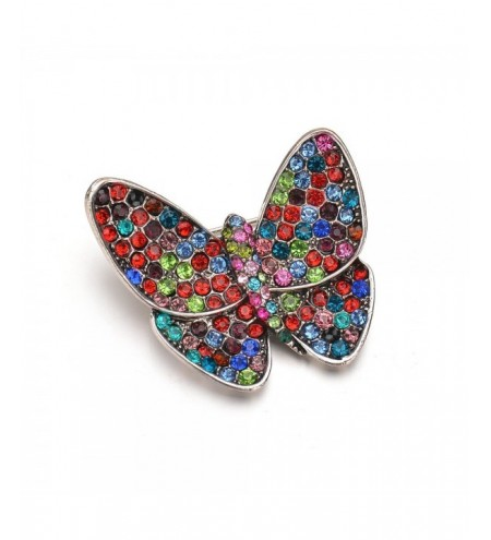 Fashionable Upscale Color Butterfly Brooch