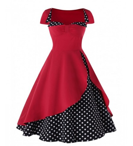 Polka Dot High Waisted Pin Up Dress