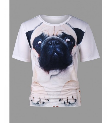 Short Sleeve Dog 3D Print T-shirt