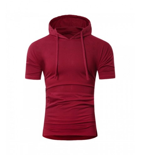 Solid Color Drawstring Hooded Tee