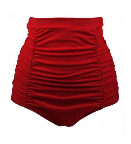 Plus Size High Waist Ruched Swim Briefs