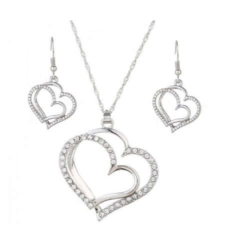 Fashion Bride Romantic Wedding Creative Heart Jewelry Set