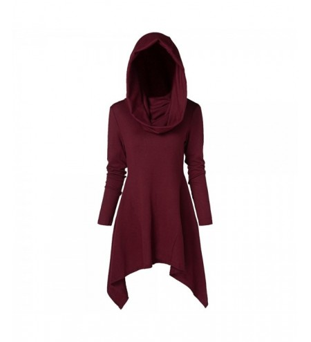 Plus Size Asymmetrical Hooded Sweater