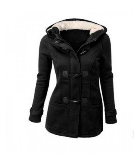 Trench Hooded Pocket Toggle Coat Women Jacket