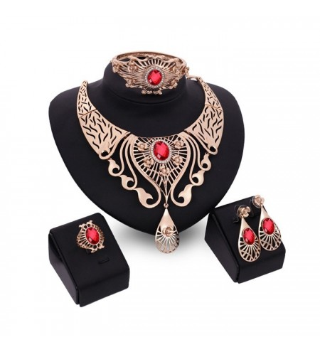 European Style Elegant Artificial Diamonds Jewelry 4PCS / Set