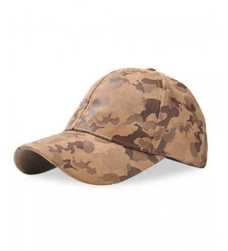 Baseball Cap Adjustable Men Women Suede Camouflage Hat