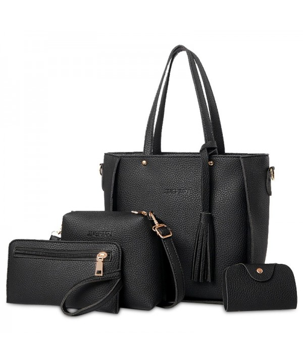 4 Pieces Tassel Tote Bag Set