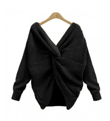 Two wear V-neck knotted halter sweater long sleeve sweater 8 color